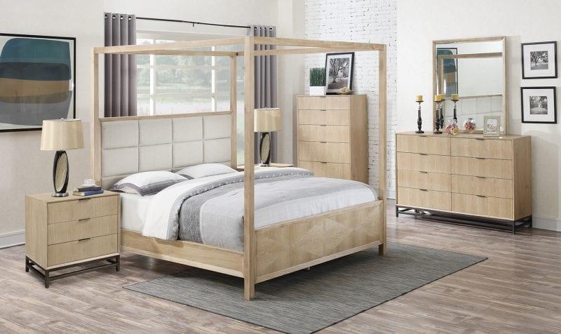 Aden Upholstered Canopy Bed Frame Mattress Warehouse Usa Portland Oregon